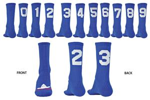"Red Lion ""Solid Numbers"" Blue Crew Socks"