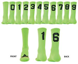 """Red Lion """"Solid Numbers"""" Green Crew Socks"""