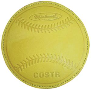 Markwort Leather Baseball Coaster