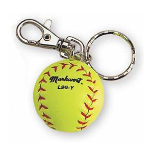 Markwort Miniature Yellow Softball Keychain