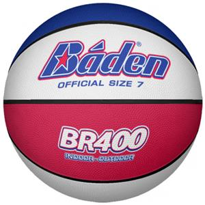 Baden BR400 Red White &amp; Blue Rubber Basketballs