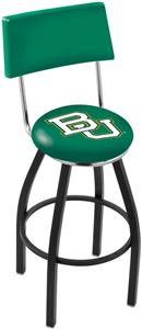 Holland Baylor U Swivel Back Blk/Chrome Bar Stool