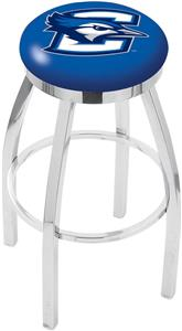 Holland Creighton Univ Flat Ring Chrome Bar Stool