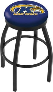 Holland Kent St U Flat Black/Chrome Ring Bar Stool