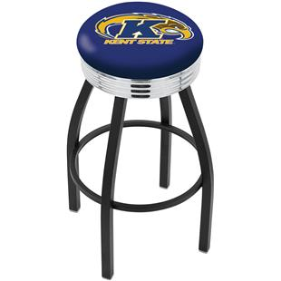 Holland Kent St U Ribbed Ring Blk/Chrome Bar Stool