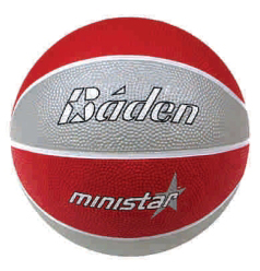 Baden Camp MiniStar #3 Rubber Basketball B51-08