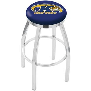 Holland Kent State Univ Flat Ring Chrome Bar Stool