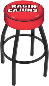 Holland Louisiana-Lafayette Blk/Chrome Bar Stool