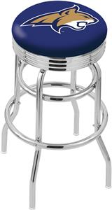 Montana State Univ Ribbed Double-Ring Bar Stool