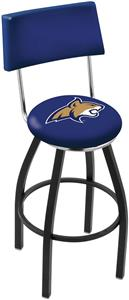 Montana St Univ Swivel Back Black/Chrome Bar Stool