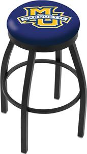 Holland Marquette U Flat Blk/Chrome Ring Bar Stool