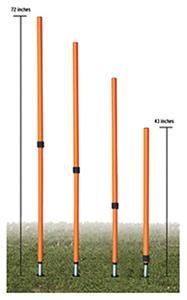 Champion Adjustable Agility Pole Set