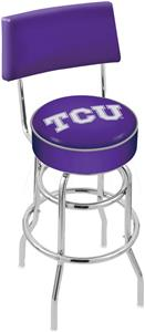 Holland TCU Double-Ring Back Bar Stool