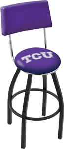 Holland TCU Swivel Back Black or Chrome Bar Stool