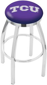Holland TCU Flat Ring Chrome Bar Stool