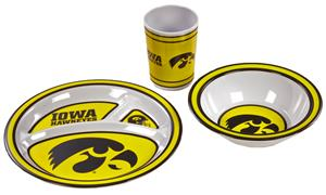 NCAA Iowa Hawkeyes  Kid's 3 Pc. Dish Set