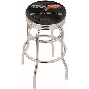 Holland Corvette C6 Ribbed Double-Ring Bar Stool