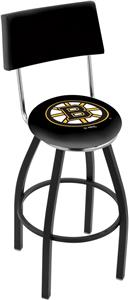 NHL Boston Bruins Swivel Back Blk/Chrome Bar Stool