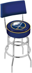 NHL Buffalo Sabres Double-Ring Back Bar Stool