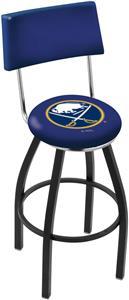 NHL Buffalo Sabres Swivel Back Blk/Chrm Bar Stool