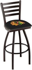 NHL Chicago Blackhawks Blk Ladder Swivel Bar Stool