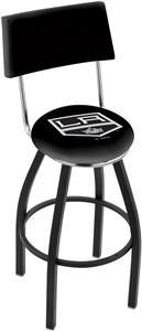 NHL LA Kings Swivel Back Black or Chrome Bar Stool