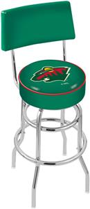 NHL Minnesota Wild Double-Ring Back Bar Stool
