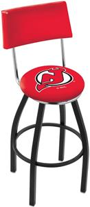 New Jersey Devils Swivel Back Blk/Chrome Bar Stool