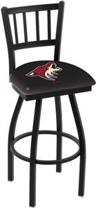 NHL Arizona Coyotes Jailhouse Swivel Bar Stool