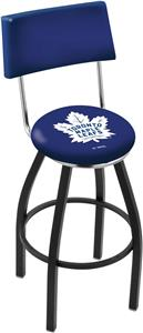 Toronto Maple Leafs Swivel Back Blk/Chrm Bar Stool