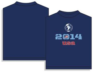 Utopia USA 2014 Soccer Short Sleeve T-shirt