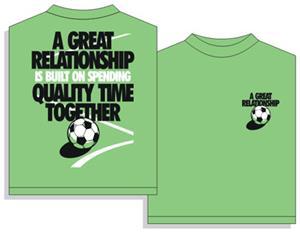 Utopia Relationship Soccer Short Sleeve T-shirt