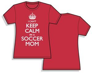 Utopia Womens Keep Calm Soccer Mom T-Shirt