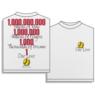 Utopia One Love Softball Short Sleeve T-shirt