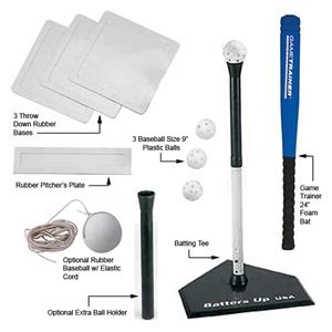 Markwort &quot;Batters Up USA&quot; Baseball Batting Tee Kit
