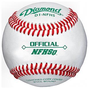 Diamond D1-NFHS Official Raised Seam Baseballs