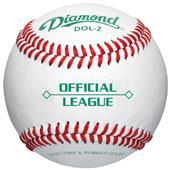 Diamond Official League Leather Baseballs DOL-2