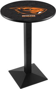 Oregon State Univ Blk/Chrome Square Base Pub Table