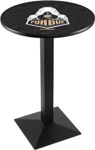 Holland Purdue Black/Chrome Square Base Pub Table