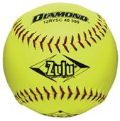 "Diamond Zulu Red Stitch 12"" ASA Synthetic Softball"