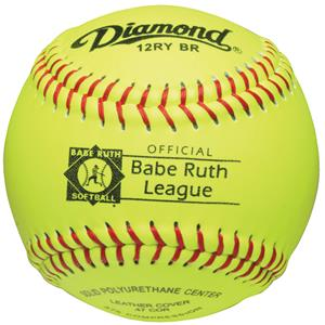 "Diamond 12RY BR Babe Ruth League 12"" Softballs"