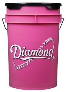 Diamond 6 Gallon Baseball/Softball Pink Bucket