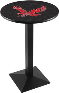 Eastern Washington Blk/Chrm Square Base Pub Table