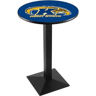 Kent State Univ Black/Chrome Square Base Pub Table