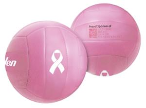 "Mini Size 4"" Pink Ribbon Rubber Volleyball"
