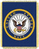Northwest U.S. Navy Triple Woven Jacquard Throw