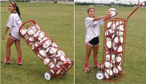 Soccer Wall Big Red Madrid Soccer Ball Cart