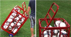 Soccer Wall Big Red Bayern Soccer Ball Cart