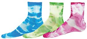 Red Lion Tie Dyed Cycle 1/4 Crew Socks - Closeout