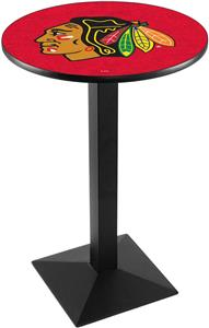 NHL Chicago Blackhawks Red Square Base Pub Table